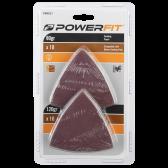 PowerFit 20pcs 80mm sanding paper set
